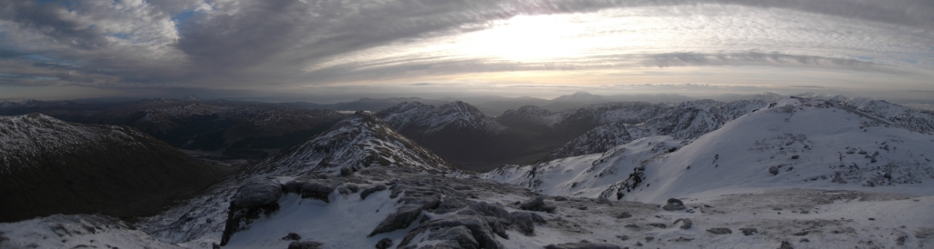Looking South West from Cruach Ardrain (copyright Michael Spencer)
